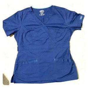 Women's Cherokee scrub top medium navy blue